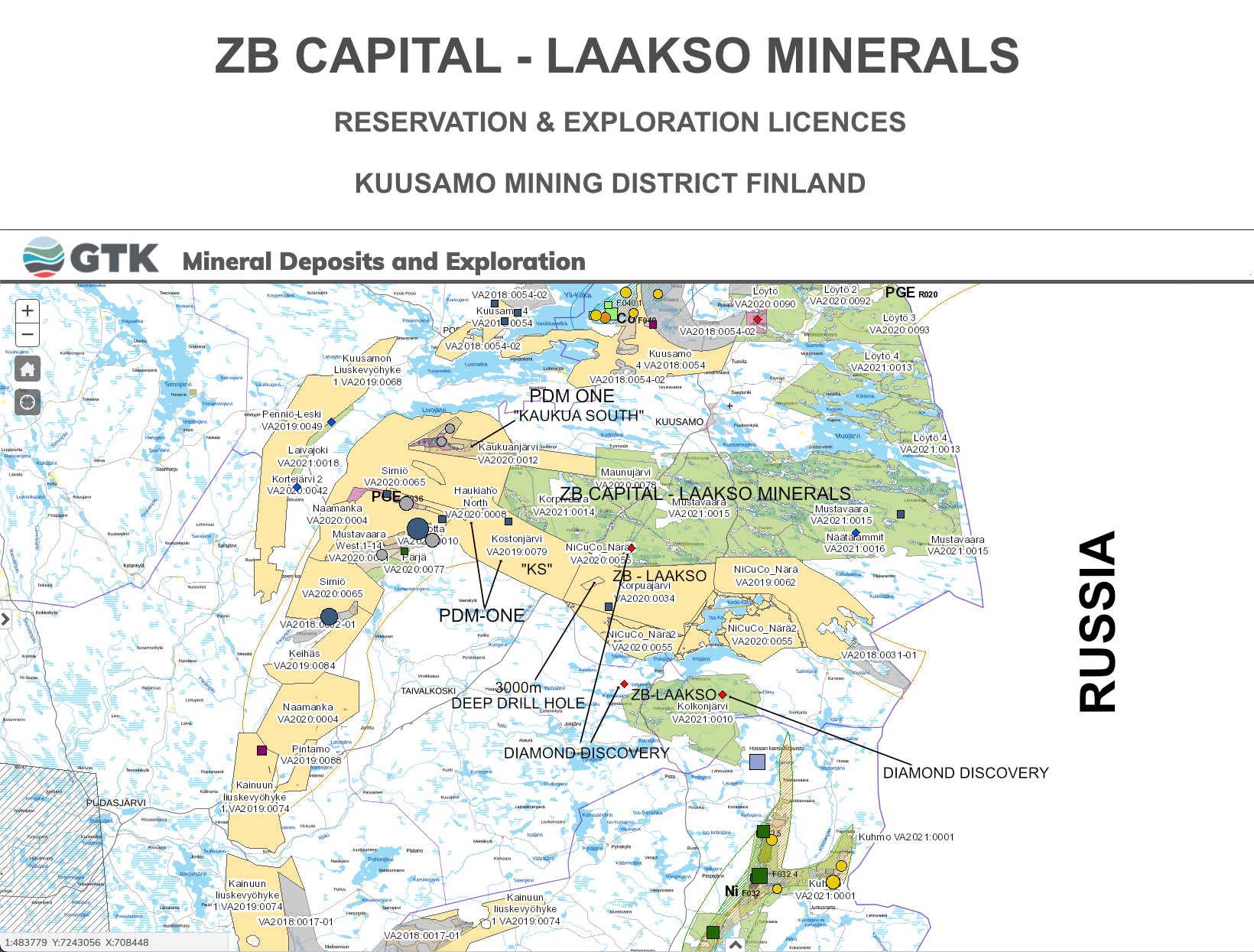 ZB Capital AG - Laakso Minerals Oy - Reservation & Exploration Licences